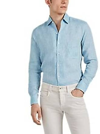 d17ebd0bb Loro Piana Mens Aloe-Treated Slub Linen Shirt - Light, Pastel blue Size XXL
