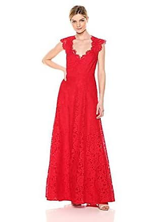 Bcbgmaxazria BCBGMax Azria Womens Scalloped Lace Gown, Burnt red 0