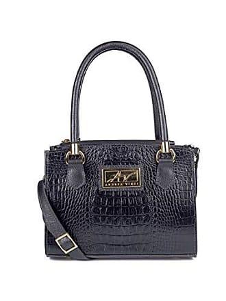 Andrea Vinci Bolsa Emmy em couro legítimo preta