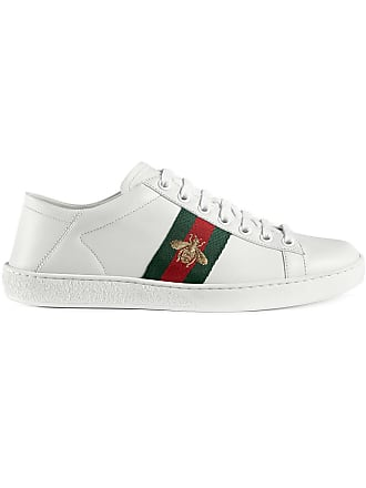 Gucci Tênis Ace de couro - Branco