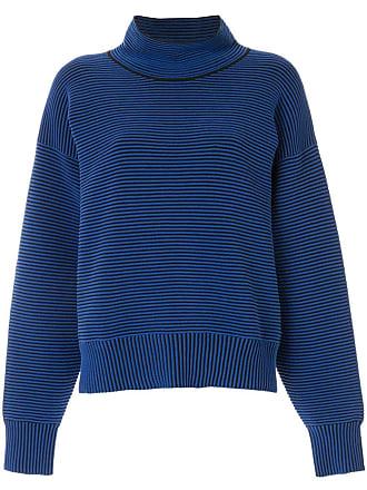 Nagnata Suéter gola alta de tricô canelado - Azul