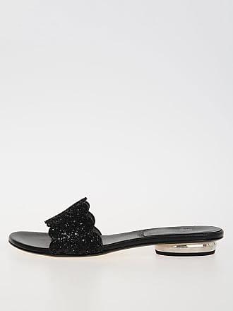 Stuart Weitzman Glitter Leather Slipper size 36,5