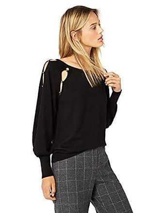Ramy Brook Womens Nadine Beaded Sweater, Black, Small