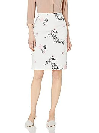 Kasper Womens Embroidered Scuba Crepe Slim Skirt, Tutu Pink Multi 8
