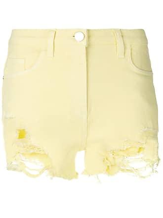 Elisabetta Franchi Short jeans - Amarelo