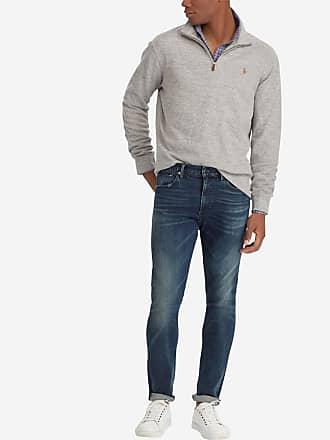 917e1d726a8 Polo Ralph Lauren Sweat en coton à col zippé Gris Polo Ralph Lauren