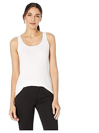 1c927765a18ea Michael Stars Chelsea Ultra Rib Slim Scoop Neck Tank (White) Womens Clothing