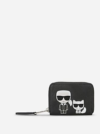 Karl Lagerfeld K/Ikonik Small Zipper Wallet