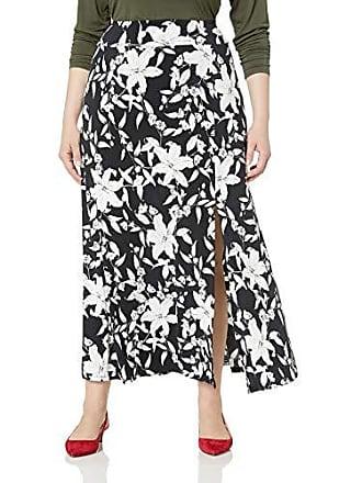 Karen Kane Womens Plus Size Maxi Skirt, Print, 3X