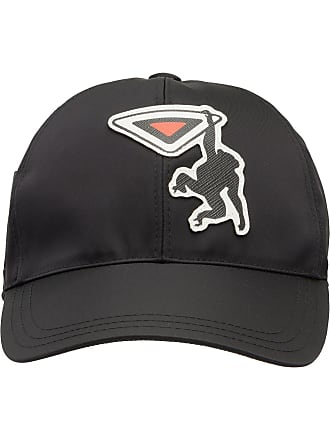 ba75a12c218 Prada Nylon baseball cap with Saffiano leather logo patch - Black