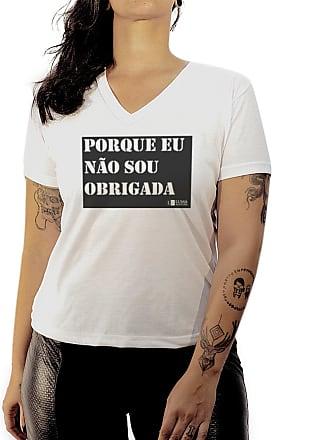 Luma Ventura Camiseta Luma Ventura Frase Não Sou Obrigada Branca