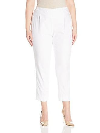 Nic+Zoe Womens Plus Size Perfect Pant Side Zip Ankle Length, Paper White, 16W