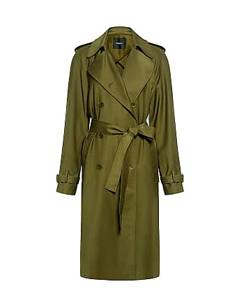 Theory Light Wool Trench Coat Khaki