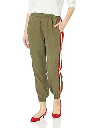 Nicole Miller Womens Cropped Pant, Heather Grey Side Stripe 12