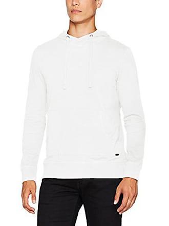 fe0973b5e39f Esprit 087EE2K014 - Pull - À Capuche - Manches Longues - Homme - Blanc  (White