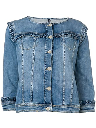 Liu Jo ruffled denim jacket - Blue