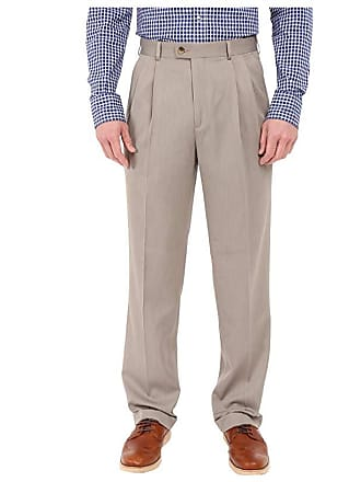 Perry Ellis Portfolio Classic Fit Double Pleat Micro-Melange Pant (Simply Taupe) Mens Casual Pants