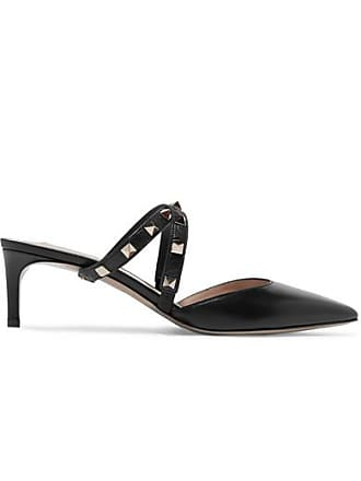 7c2828e6d147 Valentino Valentino Garavani Studwrap 55 Leather Mules - Black