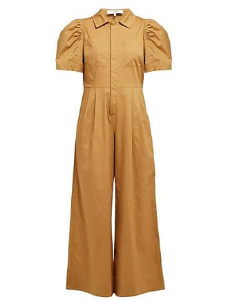 18c7c7cf1511 Sea New York Sienna Puff Sleeve Stretch Cotton Jumpsuit - Womens - Camel