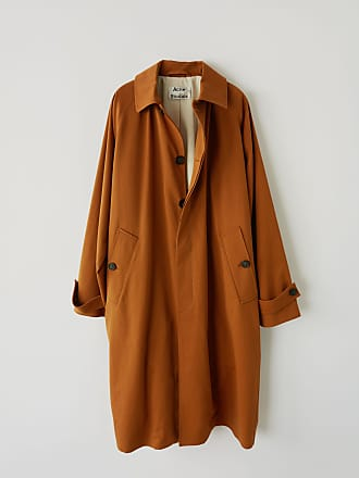 Acne Studios FN-MN-OUTW000063 Caramel brown Long cotton coat