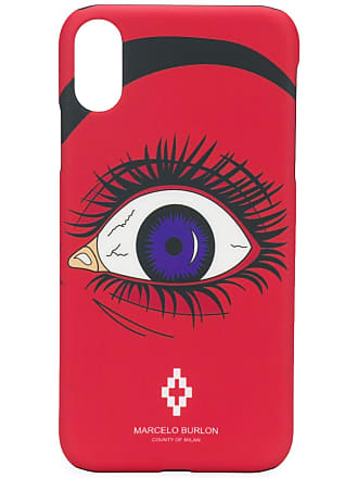 Marcelo Burlon Capa para iPhone X - Vermelho