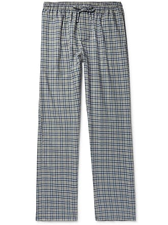 Zimmerli Checked Cotton And Wool-blend Flannel Pyjama Trousers - Navy