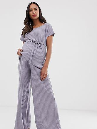 fe0b331d16d93 Asos Maternity ASOS DESIGN Maternity mix & match lounge wide leg pants -  Blue