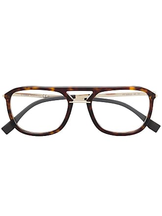 Fendi oversized aviator glasses - Brown