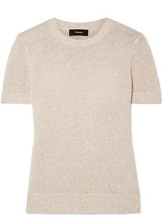 Theory Linen-blend Sweater - Beige