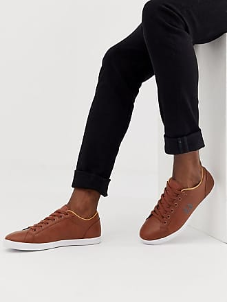Fred Perry Baseline leather sneakers in tan - Tan