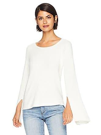 Ramy Brook Womens Audrina Dramatic Sleeve Sweater, Cream, Large