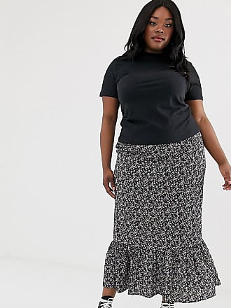03d10243870fc New Look Plus New Look Curve maxi skirt in black floral pattern