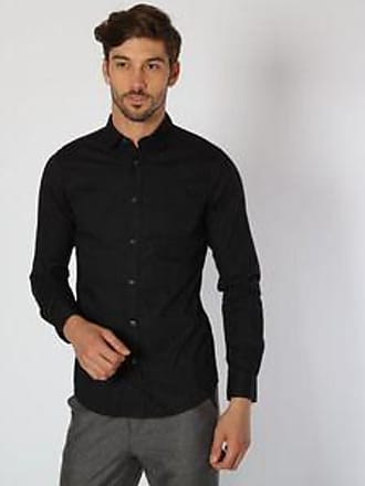 Springfield Camisa con Tejido Liso<br>Stretch Fit<br>Negro