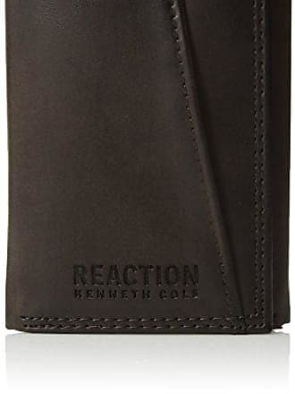 Kenneth Cole Reaction Kenneth Cole Reaction Mens Wallet - RFID Blocking Security Genuine Leather Slim Trifold with ID Window and Card Slots,Brown Slim