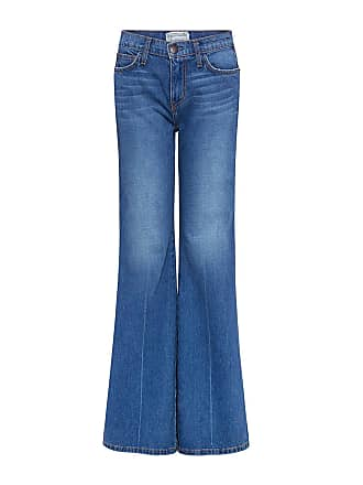 Current Elliott THE GIRL CRUSH Flared Jeans Blue Collar