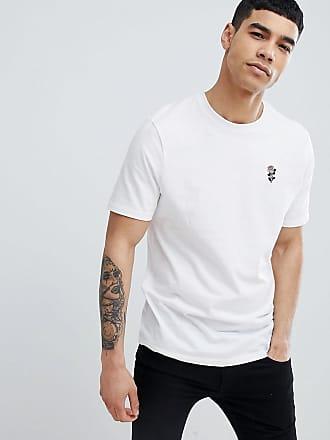 River Island Weißes T-Shirt mit Rosenstickerei - Weiß 65e9a7c212