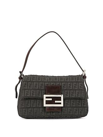 8cf1aaa1f9d Fendi Zucchino pattern Mamma Baguette shoulder bag - Grey
