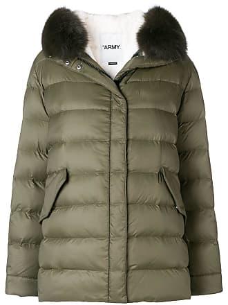 Yves Salomon - Army fur trim down jacket - Green