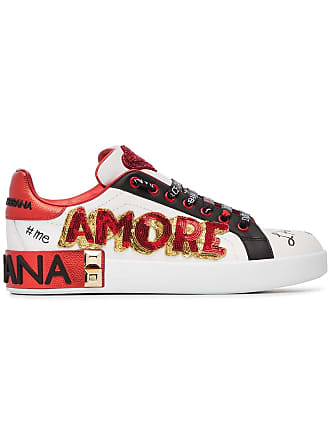 Dolce   Gabbana Sneakers ricamate - Di Colore Bianco 7e96ab2ef2e