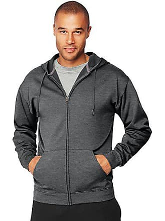 Hanes Sport3; Mens Performance Fleece Zip Up Hoodie Ebony Pebble Camo 2XL