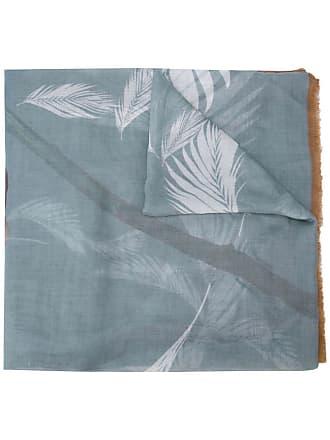 Yigal AzrouËl Peony printed scarf - Blue