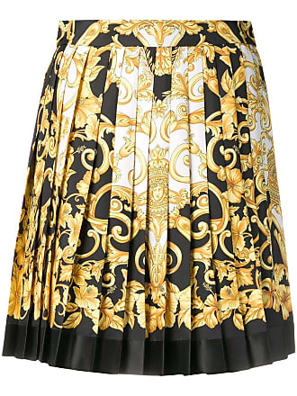 183e3b0c3c Versace baroque print pleated mini skirt - Yellow
