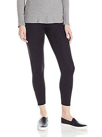 Hue Womens Made to Move Side Zip Active Shaping Skimmer Leggings, Black, Large