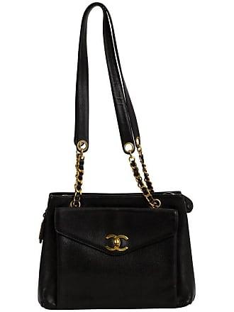 Chanel Large Black Caviar Leather Shoulder Tote Bag 89035330c9a30