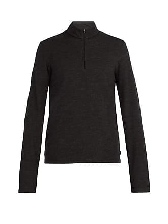 Capranea Half Zip Wool Blend Sweater - Mens - Black
