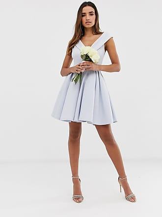 d2b70f185b Club L Club L bridesmaid bardot detail skater dress - Blue