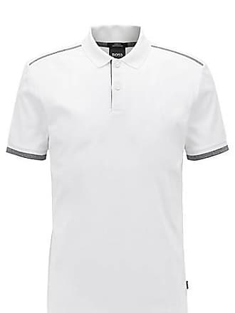 9ddb63b3 BOSS Slim-fit polo shirt with contrast shoulder stripes