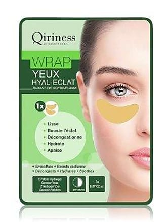 Qiriness Wrap Yeux Hyal-Eclat Radiant Eye Contour Mask Augenpads 2 g