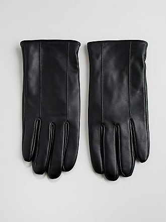 Barneys Barneys Leather Gloves In Black - Black