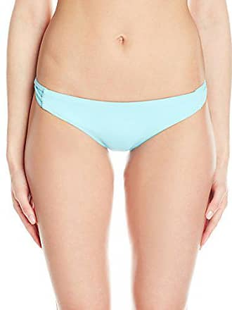 Quintsoul Womens Low Rise Bikini Bottom with Side Strings, Light Blue, Small